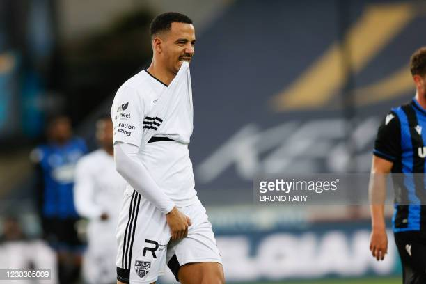 Eupen's Senna Miangue looks dejected after a soccer match between Club Brugge KV and KAS Eupen, Saturday 26 December 2020 in Brugge, on the...
