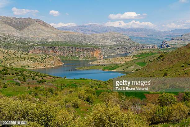 euphrates river, elevated view - euphrates river stock pictures, royalty-free photos & images