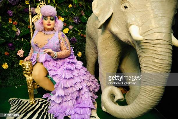 Eureka O'Hara attends 4th annual RuPaul's DragCon at Los Angeles Convention Center on May 12 2018 in Los Angeles California
