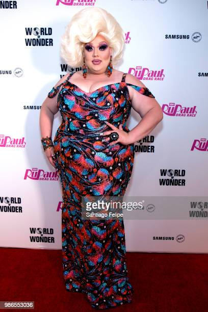 Eureka O'Hara attends the RuPaul's Drag Race Season 10 Finale at Samsung 837 on June 28 2018 in New York City