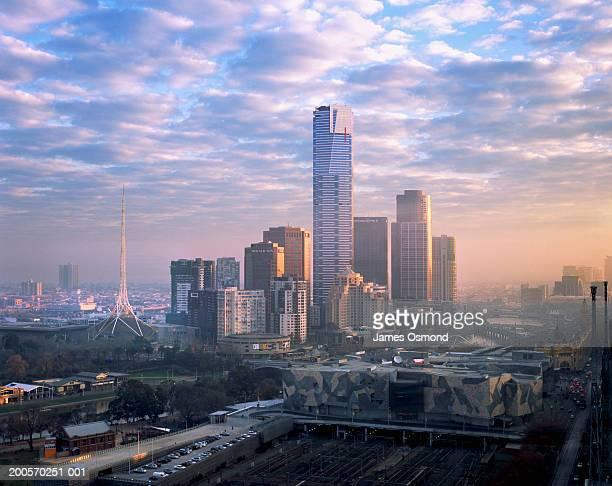 Eureka Tower in cityscape, Victoria, Melbourne, Australia