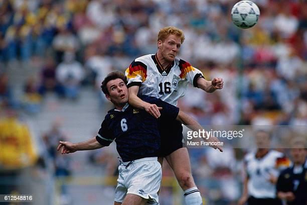 Euro 1992 Germany vs Scotland Brian McClair and Matthias Sammer