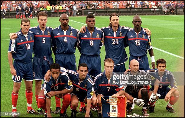 Euro 2000 final France Italy 2 1 in Rotterdam Netherlands on July 02 2000 French team