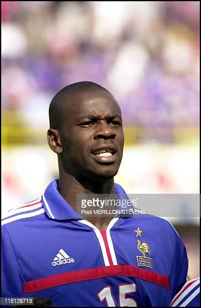 Euro 2000 France defeats Denmark 30 in Bruges Belgium on June 11 2000 Lilian Thuram