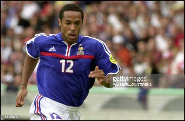 Euro 2000 France defeats Denmark 30 in Bruges Belgium on June 11 2000 Thierry Henry