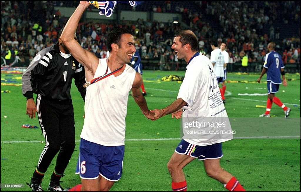 Euro 2000: France Defeats Italy 2 - 1 In Rotterdam, Netherlands On July 02, 2000. : News Photo