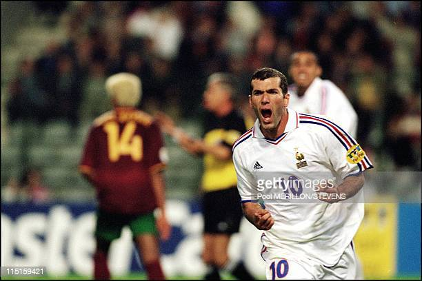 Euro 2000 France defeats Portugal 21 in the semi final in Brussels Belgium on June 28 2000 Zinedine Zidane