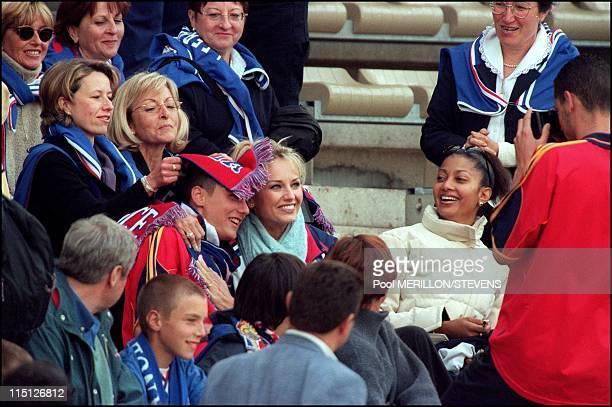 Euro 2000 France Spain 2 1 in Bruges Belgium on June 25 2000 Adriana Karembeu