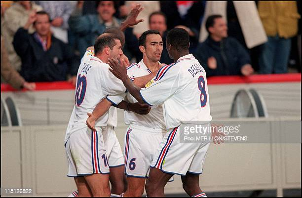 Euro 2000 France Spain 2 1 in Bruges Belgium on June 25 2000 Youri Djorkaeff after his goal