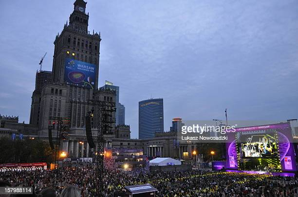 Euro 2012 'Fan Zone' officialy opened in Warsaw