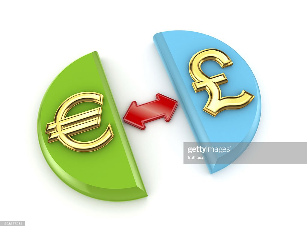 Euro and pound sterling signs. : Stock Photo