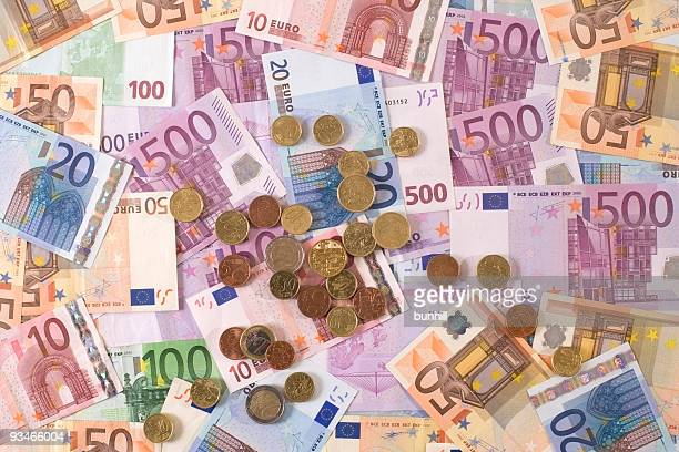 € euro bank notes and coins - european EU currency