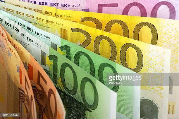 fan von Euro-Banknoten