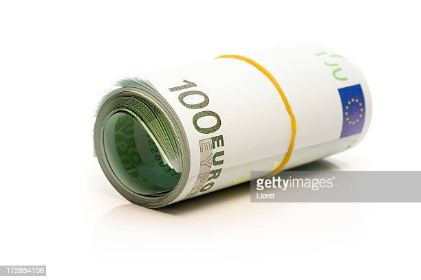 Euro Banknotes Money Roll
