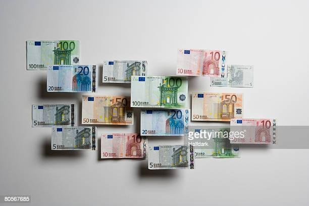 euro banknotes - banconote euro foto e immagini stock