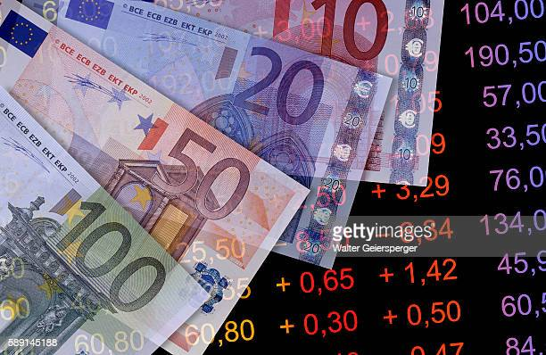 Euro Bills and Stock Listings