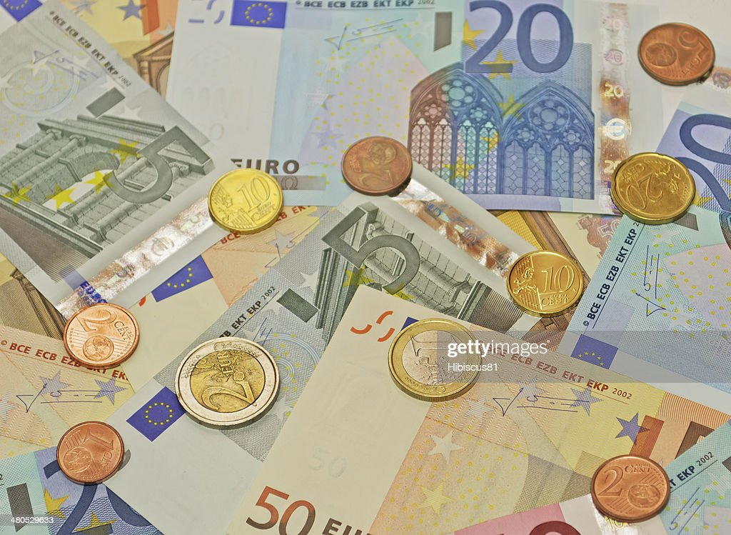 euro bills : Stock Photo