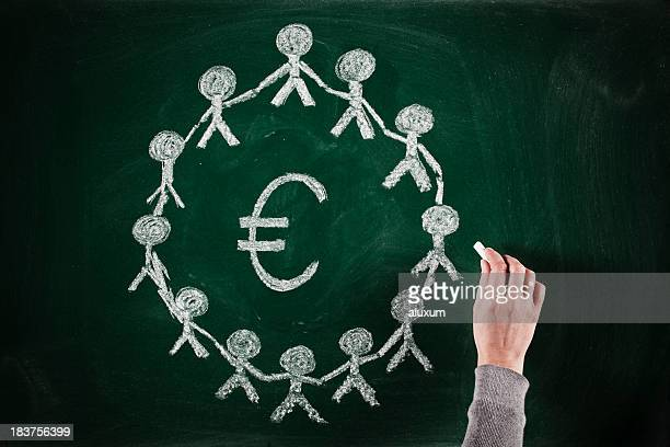 euro business concept - group e stockfoto's en -beelden