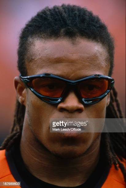 Euro Championships 2000 Netherlands v Yugoslavia Edgard Davids of the Netherlands lines up with his team mates before the match against Yugoslavia