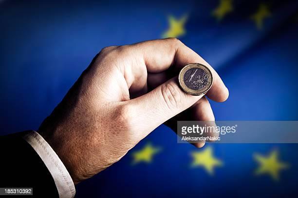 Euro Münze flip