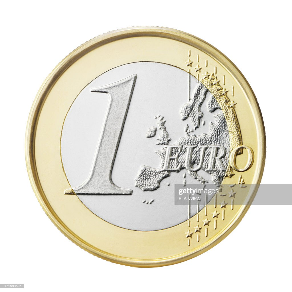 Moneda Euro (clipping path (Borde de corte : Foto de stock