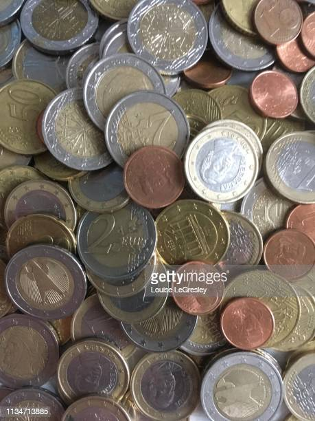 Euro coins, various denominations