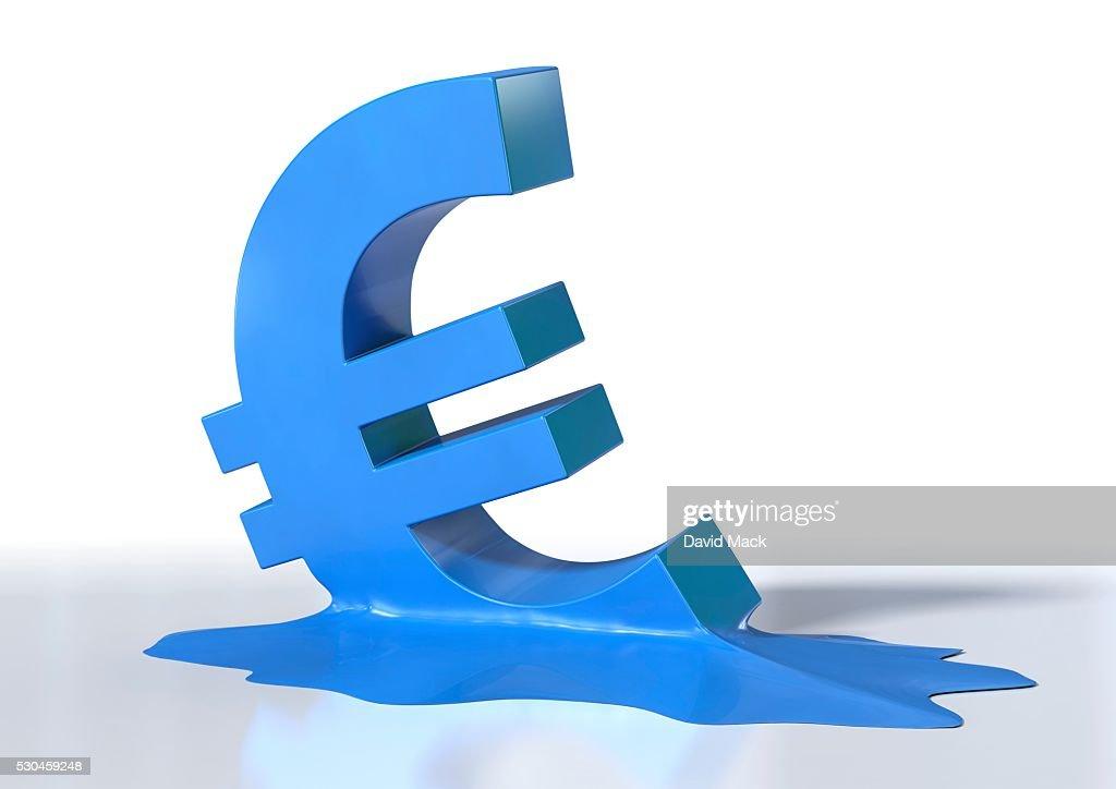 Euro crisis, conceptual artwork : ストックフォト