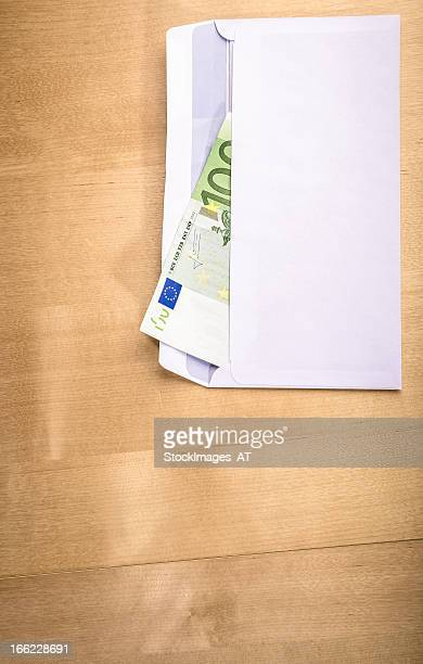Euro Currency on Oak Table