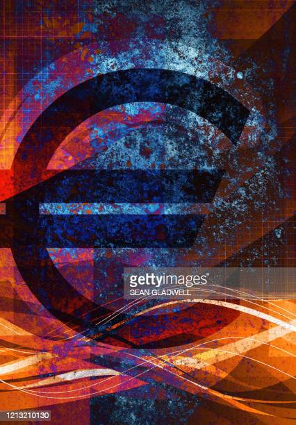 euro currency symbol - graphic print stock pictures, royalty-free photos & images