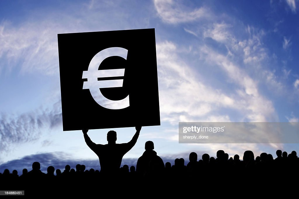 XXXL euro debt crisis protestors : Stock Photo