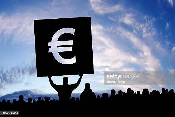 XXXL euro-crise de la dette manifestants