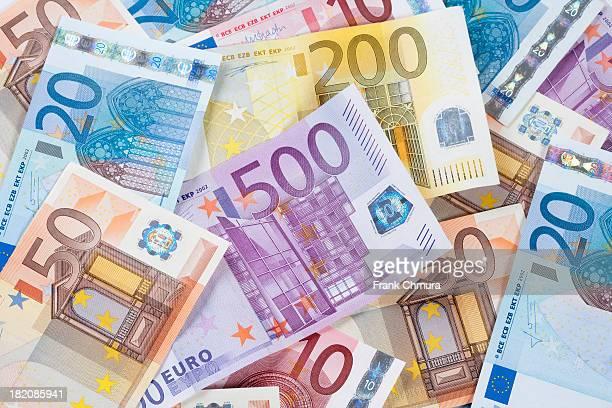 euro - eu banknotes. - banconote euro foto e immagini stock