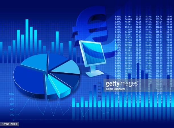 Euro finance graphic