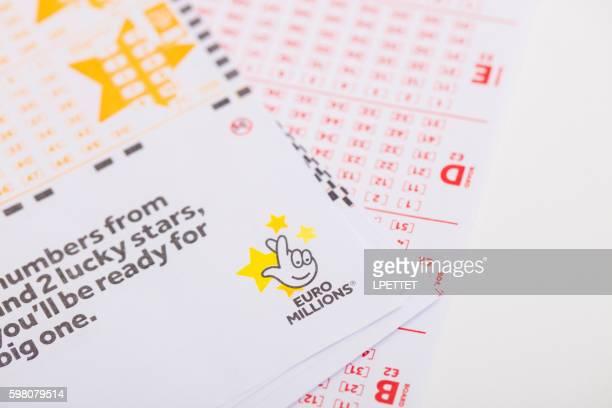 euro millions - artículos de lotería fotografías e imágenes de stock