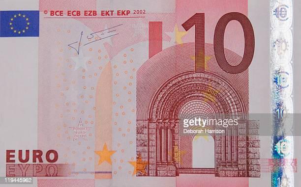 10 euro note - banconote euro foto e immagini stock