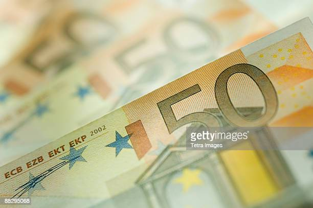 50 euro notes spread out