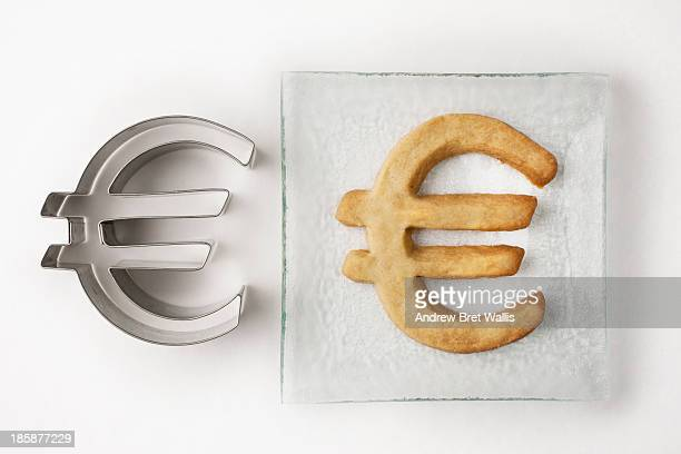 Euro pastry cutter and Euro biscuit on a plate