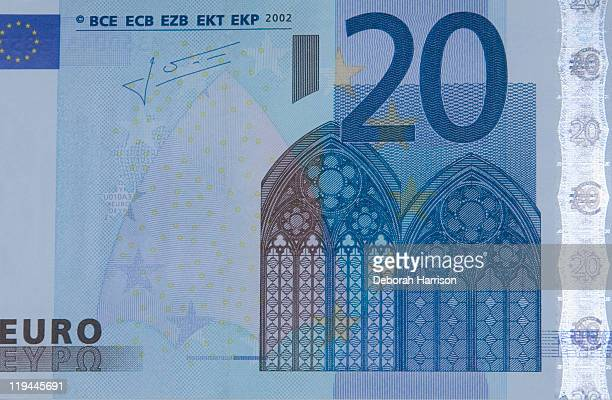20 euro - twenty euro banknote stock photos and pictures