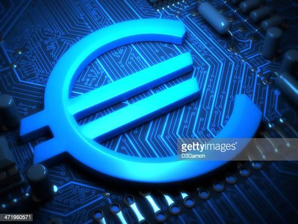 Euro-Zeichen auf der Circuit Board