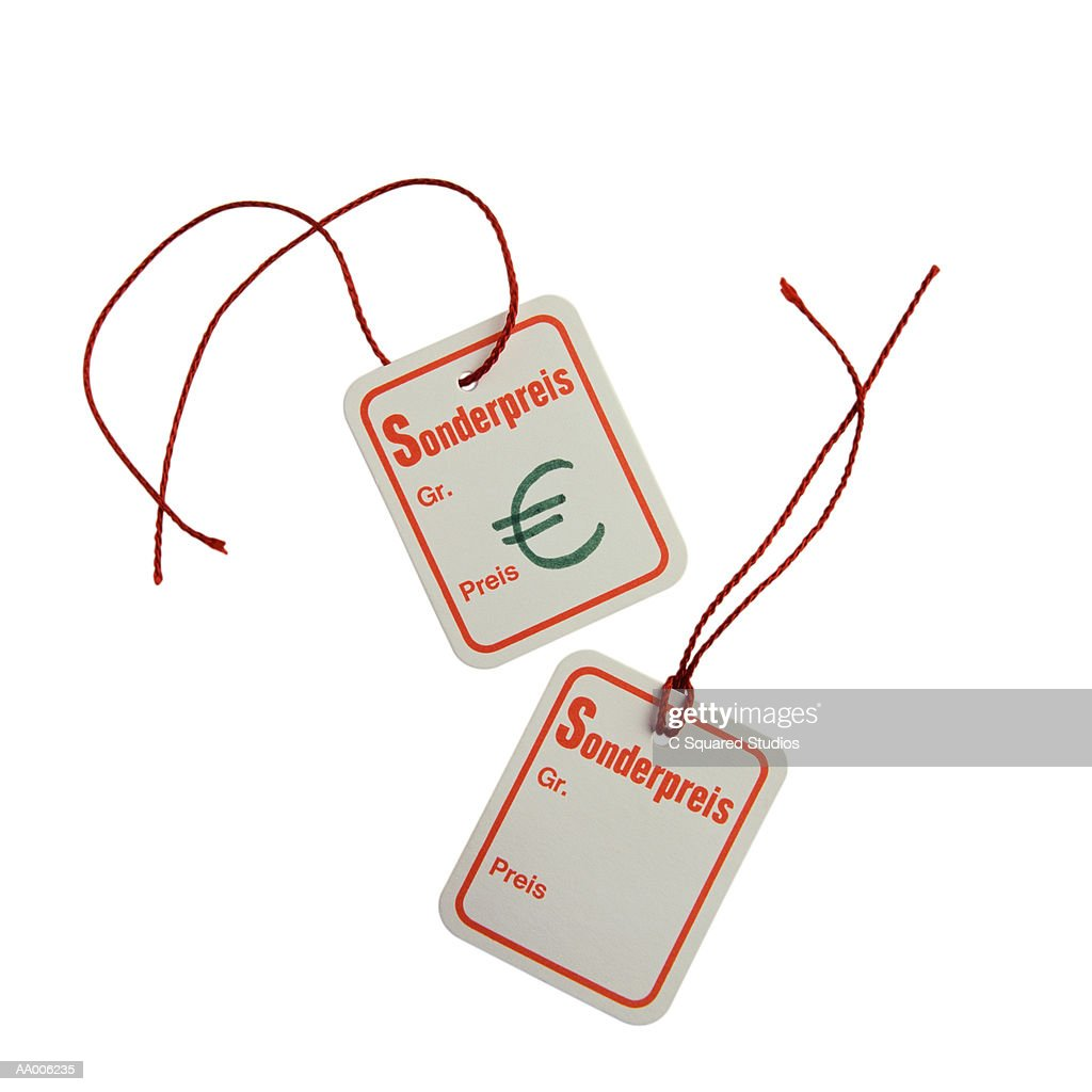 Euro Symbol On German Price Tags Stock Photo Getty Images