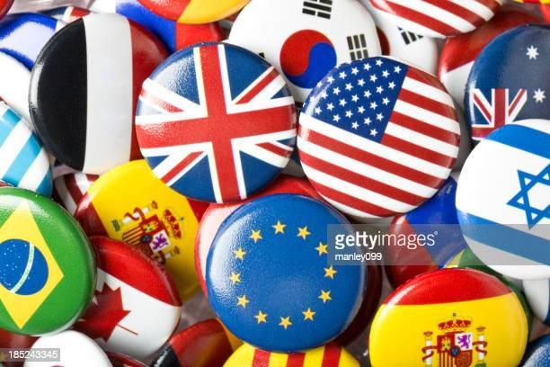 Euro Vereinigtes Königreich und USA Flagge Pin-Kollektion