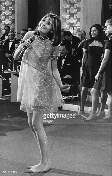 Euro Vision Song Contest 1967 in Vienna The picture shows the winner Sandie Shaw Photograph 8 April 1967