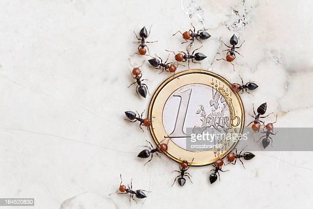 eurocrisis concepto ants ahorro moneda euro