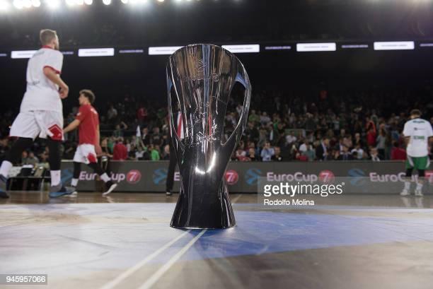 EuroCup Champion Trophy prior the 7DAYS EuroCup Basketball Finals game two between Darussafaka Istanbul v Lokomotiv Kuban Krasnodar at Vokswagen...