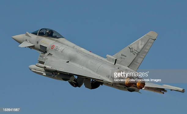 A Eurofighter F-2000 of the Italian Air Force in flight during Exercise Anatolian Eagle 2012.