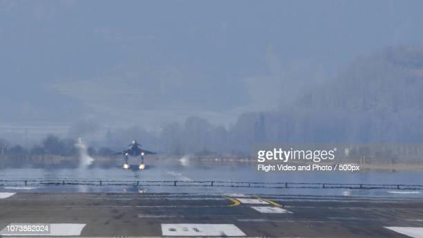 Eurofighter Typhoon of Austrian Air Force in Zelt