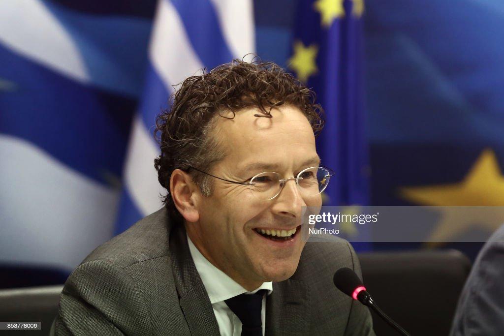 Eurogroup chief Jeroen Dijsselbloem in Athens, Greece