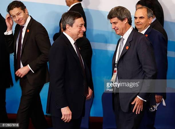 Eurogroup President Jeroen Dijsselbloem European Central Bank President Mario Draghi Argentinian Finance Minister Alfonso PratGay and Central Bank of...