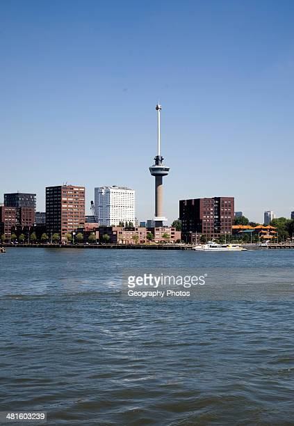 Euromast tower Rotterdam Netherlands from the River Maas towards Delfshaven