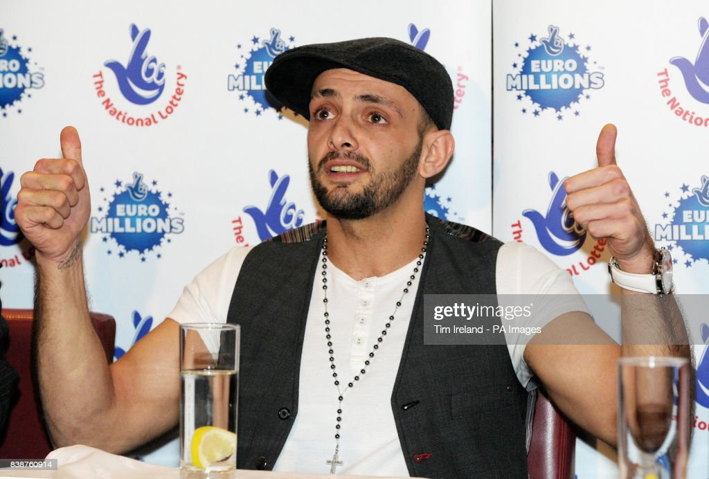 EuroMillions winner Gavin Davies during a press conference